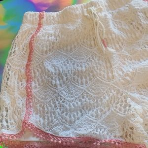 Jessica Simpson shorts (off white and pink)